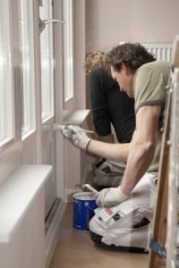 Capital City Painting paying special attention to detail in their interior painting project.
